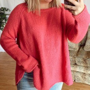 Anthropologie Wooden Ships Pink Knit Sweater S M